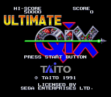 Ultimate Qix title screenshot