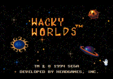 Wacky Worlds Creativity Studio title screenshot