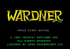 Wardner title screenshot