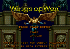 Wings of Wor title screenshot