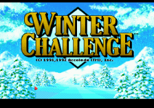 Winter Challenge title screenshot