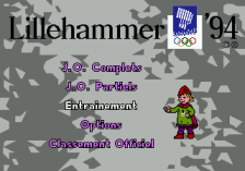 Winter Olympic Games title screenshot
