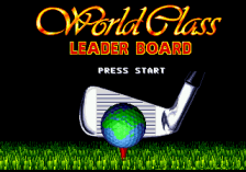 World Class Leaderboard Golf title screenshot