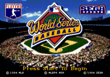 World Series Baseball title screenshot