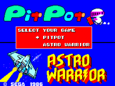 Astro Warrior & Pit Pot title screenshot