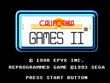 California Games II title screenshot
