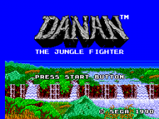 Danan - The Jungle Fighter title screenshot