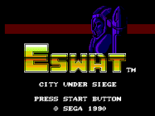 E-SWAT - City Under Siege title screenshot