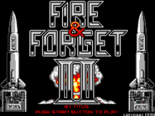 Fire & Forget II title screenshot