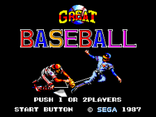Great Baseball title screenshot