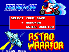 Hang-On & Astro Warrior title screenshot