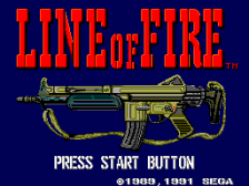 Line of Fire title screenshot