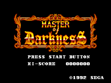 Master of Darkness title screenshot