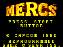 Mercs title screenshot