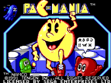 Pac-Mania title screenshot