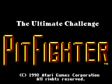 Pit Fighter title screenshot