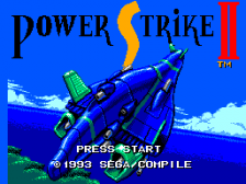 Power Strike II title screenshot