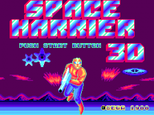 Space Harrier 3-D title screenshot