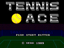 Tennis Ace title screenshot