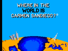 Where in the World is Carmen Sandiego title screenshot