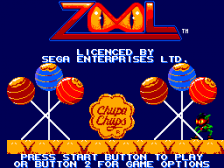 Zool - Ninja of the 'Nth' Dimension title screenshot