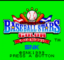 Baseball Stars Color title screenshot