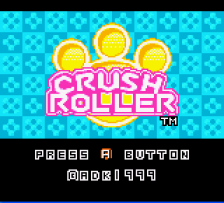 Crush Roller title screenshot