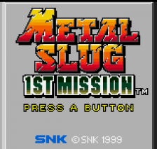 Metal Slug - 1st Mission title screenshot