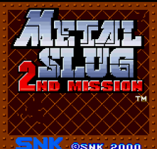 Metal Slug - 2nd Mission title screenshot