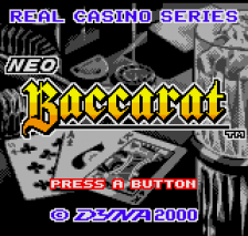 Neo Baccarat - Real Casino Series title screenshot