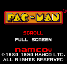 Pac-Man title screenshot