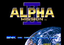 Alpha Mission 2 title screenshot