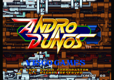 Andro Dunos title screenshot