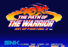 Art of Fighting 3 - The Path of Warrior title screenshot