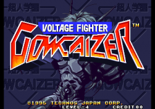 Voltage Fighter Gowcaizer title screenshot