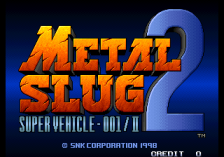 Metal Slug 2 : Super Vehicle-001  title screenshot