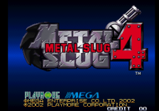 Metal Slug 4 title screenshot