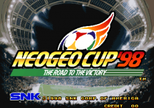 Neo Geo Cup '98 : The Road to the Victory title screenshot