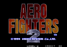Aero Fighters 2 title screenshot