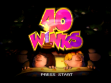 40 Winks title screenshot
