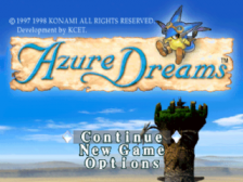 Azure Dreams title screenshot