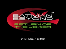 Batman Beyond - Return of the Joker title screenshot