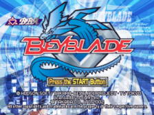 Beyblade title screenshot