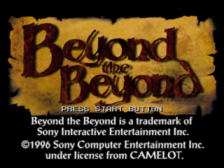 Beyond the Beyond title screenshot