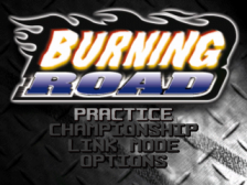 Burning Road title screenshot
