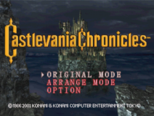 Castlevania Chronicles title screenshot