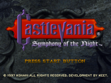 Castlevania - Symphony of the Night title screenshot