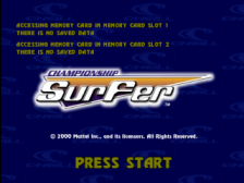 Championship Surfer title screenshot