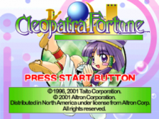 Cleopatra's Fortune title screenshot