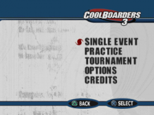 Cool Boarders 3 title screenshot